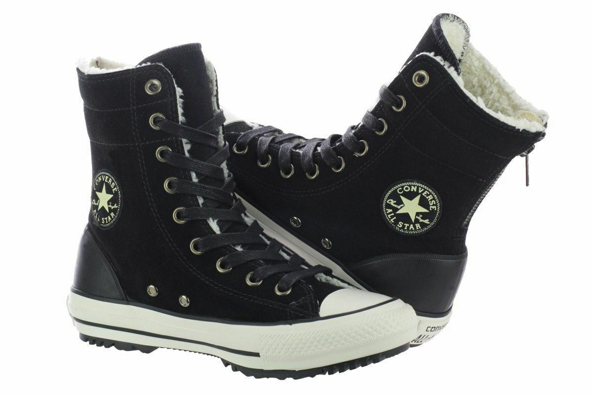 Primary image for Converse Chuck Taylor High-Rise Boot Women 549593C Black Shoes Size 5