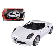 Alfa Romeo 4C White 1/24 Diecast Model Car by Motormax 79320w - $31.10