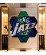 Utah Jazz Wall Art Framed Canvas Painting Poster Print  Decor 7 Hexagon ... - $94.99+