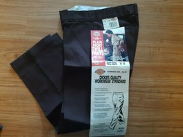 Dickies 874V Work Pants Plain Front Twill Classic Fit Brown 30 x 30 - $29.65