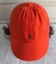 Polo Ralph Lauren Orange Hat Vintage Pony Leather Strap Embroidered Cap -   108.90 eb506d6b501a