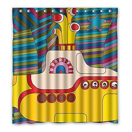 Beatles yellow submarine shower curtain  small portholes