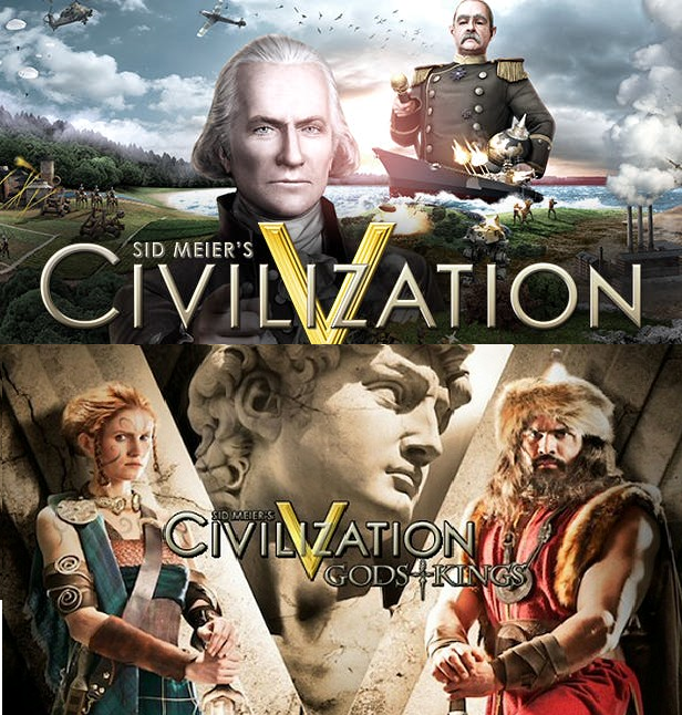 Primary image for Civilization V + Gods And Kings DLC PC Steam Key NEW Download Game Region Free