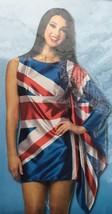 New UK British Flag Costume Sexy Mini Dress Adult Small Medium 4-10 - $19.97