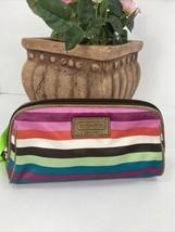 Coach Cosmetic Bag Legacy Multi-Striped Top Zip Small Clutch  M5 - $58.79