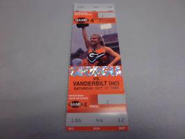 Vanderbilt Commodores vs Georgia Bulldogs 10-17-1998 Football Game Ticke... - $3.12