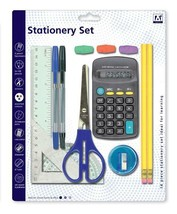 School Set Pens Ruler HB Pencils Calculator Scissor School Stationary 13... - $4.55