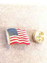 usa stars and stripes very detailed pin badge, gold Lapel Pin Badge in gift box