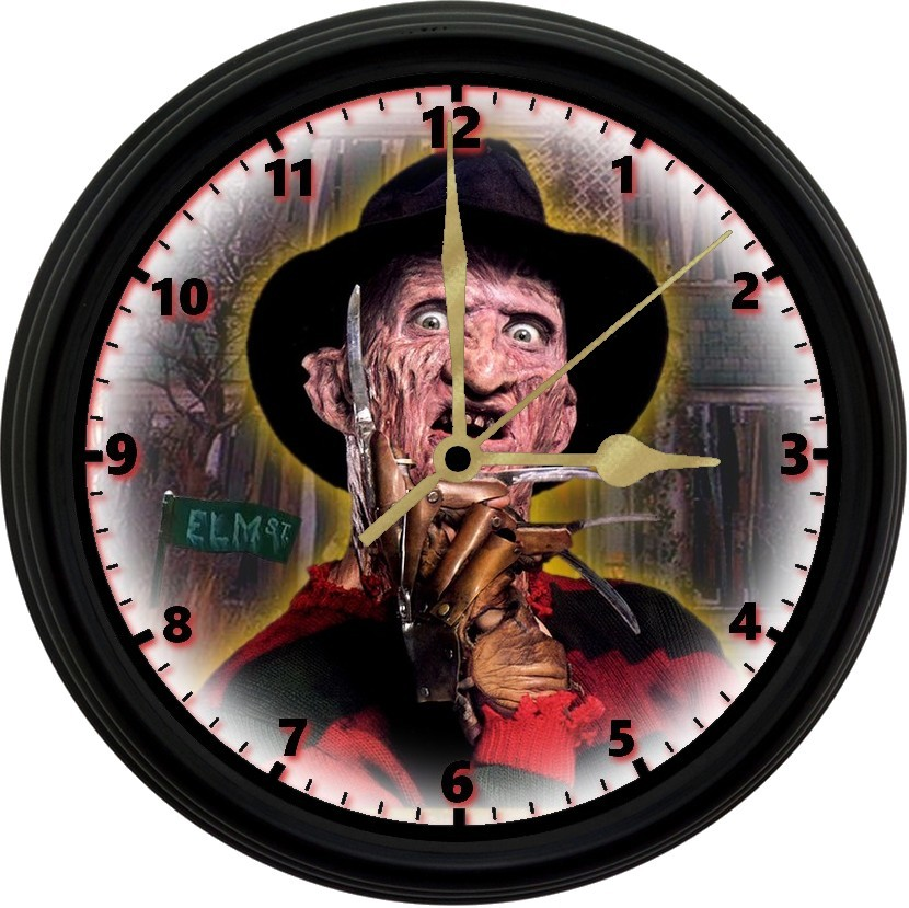 Primary image for Freddy Krueger 8in. Unique Homemade Wall Clock w/ Battery Included