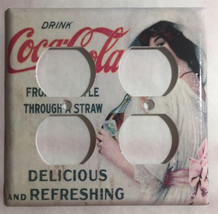 Coke Drink Coca-Cola Old Poster Light Switch Outlet Wall Cover Plate Home Decor image 6