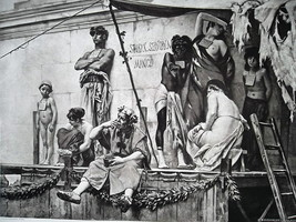 SLAVE MARKET in Ancient Rome Auction - 1888 Fine Antique Print - $25.20