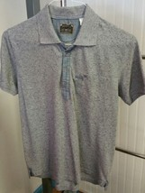 Diesel Co Men's Short Sleeve Polo Golf Shirt Solid Gray Size Small 100% ... - $35.63
