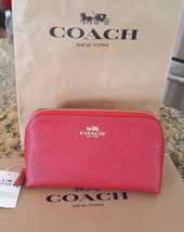 Coach True Red Leather Cosmetic or Other Essentials Case NWT - $59.99