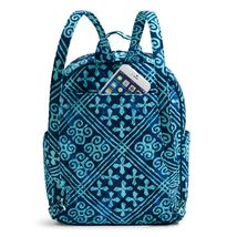Vera Bradley Quilted Signature Cotton Leighton Backpack, Cuban Tiles image 4
