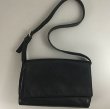 Nine West Leather Black Purse Shoulder Bag Flap Closure W/ Snap Adjustab... - $34.60