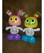 Fisher Price Bright Beats Juniors Dancing Robots BeatBo & BeatBelle Lot ... - $13.98
