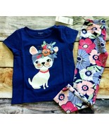 Gymboree 4T Set Puppy Dog Fruit Scarf Top Floral Flower Leggings Outlet NWT - $18.69