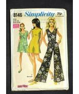 """Vintage 1969 Simplicity Jumpsuit Pattern Uncut Size 10 Bust 32-1/2"""" - $15.99"""