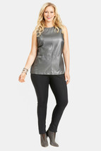 New NWT $128 High End Mynt 1792 Dark Gray 4X Faux Leather Top Shell Wome... - $128.00