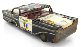Vintage Police Highway Patrol Friction Tinplate Retro Toy Car Japan - $26.21