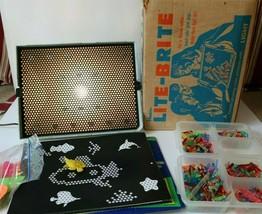 1967 Lite-Brite Light Bright-w/pegs, Star Wars Sheets, Fish *Read Description* - $19.34