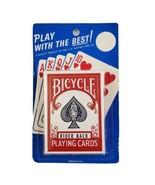 Vintage Bicycle Rider Back Playing Cards Poker 808 Air Cushion Finish Se... - $24.99
