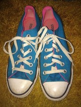 Used Punk TEAL & PINK Converse Shoes Men's sz 5 Women's sz 7 Indie - $22.51