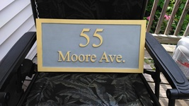 Custom carved sign , House Number and  street  name - $59.00