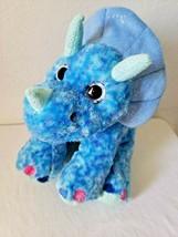 Wild Republic Dinosaur Stegosaurus Blue Plush Stuffed Animal Sparkly Gli... - $24.73