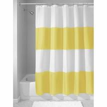 InterDesign Zeno Cortinas de baño de tela, Cortina de ducha impermeable a - $38.53