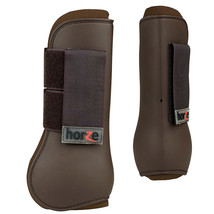 HORZE HARD OUTER SHELL PROTECTS NEOPRENE LINING TENDON BOOTS CHOCOLATE B... - $34.99