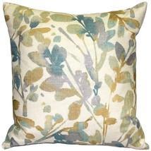 Pillow Decor - Linen Leaf Marine Throw Pillow 20x20 - $59.95