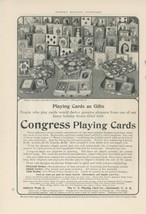 1905 Congress Playing Cards Ad Card Back Designs Gift Sets Games - $9.99