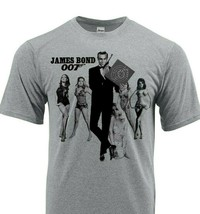 James Bond 007 Dri Fit T-shirt moisture wick retro graphic active wear Sun Shirt image 1