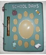 NEW School Days Collage Blue Wooden Photo Album 12 1/2 x 10 - $21.99