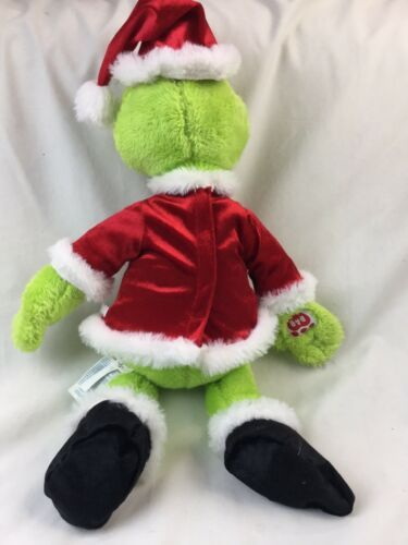 Build A Bear BAB Dr Seuss Grinch The Movie 2018 Stuffed Plush With Sound Box  image 8