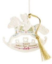 Lenox 2016 Baby's First Christmas Rocking Horse Ornament #858736 NEW - $19.99