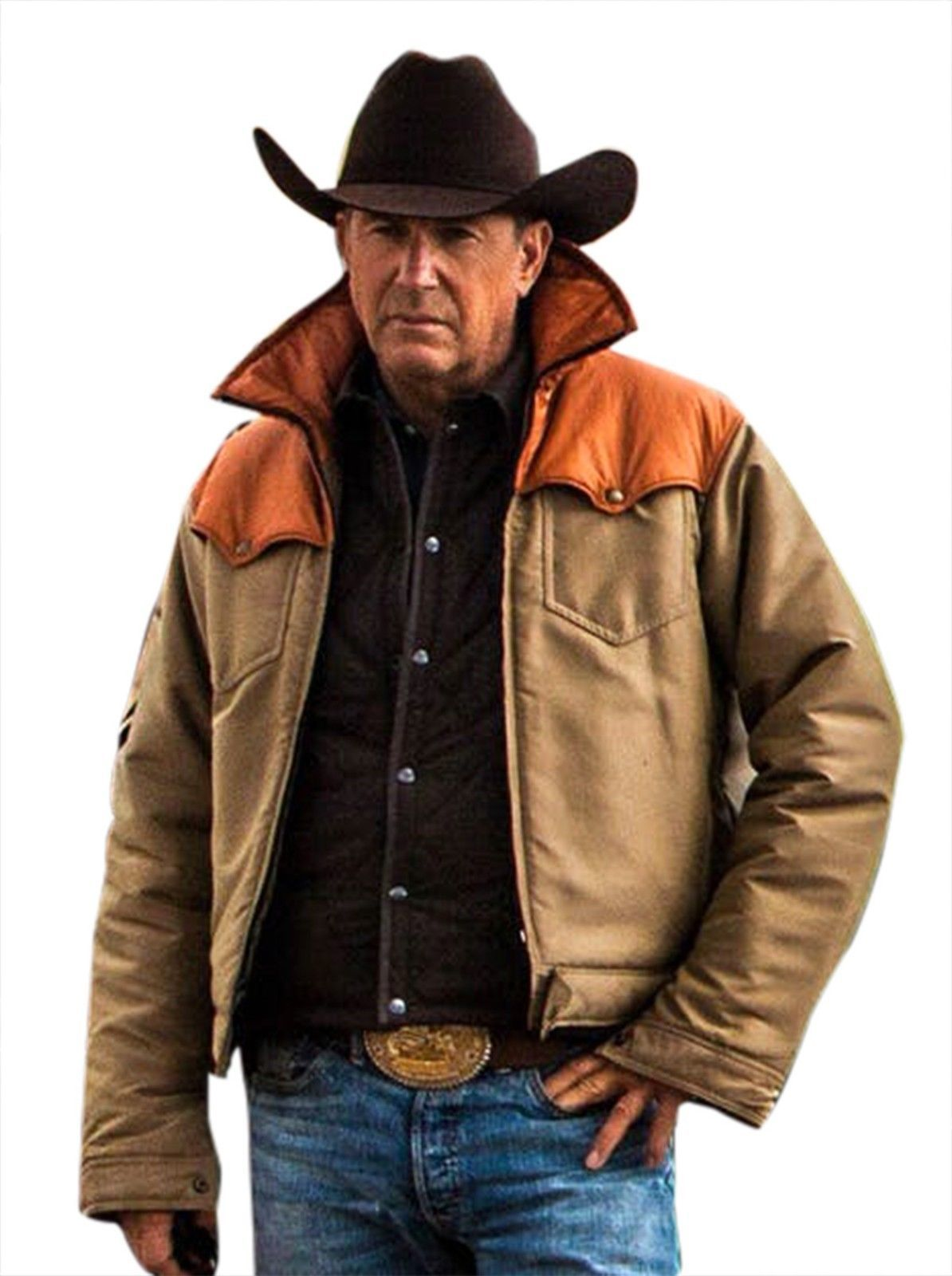 Primary image for Kevin Costner Yellowstone John Dutton Cowboy Beige Cotton Jacket