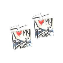 i love heart my dad,  design Cufflinks in gift box cuff links