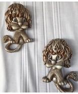VTG 3-D 1970 Wall Hanging Lions Shaggy Cats Universal Statuary Corp. Set... - $19.99