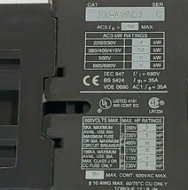ALLEN BRADLEY 100-A18ND3 CONTACTOR, SERIES C, 18A, 3P, 110/120VAC, 100A18ND3 image 2