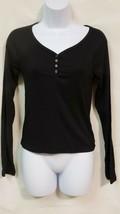 Wild Fable Black Long Sleeve Women's V-Neck Shirt NWOT - $14.71