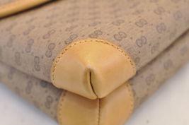 GUCCI GG Canvas Shoulder Bag Brown PVC Leather Auth sa1823 **Powder image 9