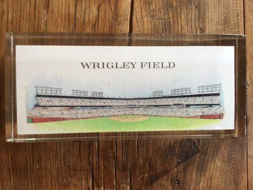 Primary image for PAPERWEIGHT WRIGLEY FIELD  CHICAGO CUBS Mint Champions vtg Rare lucite