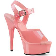 "PLEASER DELIGHT-608N 6"" Heel Baby Pink TPU Jelly Like Platform Ankle Str... - $53.95"