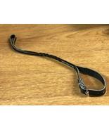 Vintage Black Genuine Leather Pocket Watch Fob Strap - $12.35