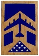 Air Force Boeing B-52 Stratofortress Award Wood Shadow Box Medal Display Case - $360.99