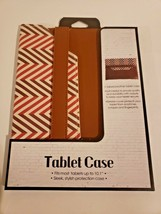 "Tailored Leather Tablet Case Fits Up To 10.1"" (Multicolor and brown) image 1"