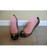 "NWOT Tory Burch 4"" Heels Brown And Black Patent Leather - $66.49"