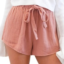 ROPALIA Womens Casual Soft Shorts Ladies Summer Loose Solid Bandage Shor... - $31.60